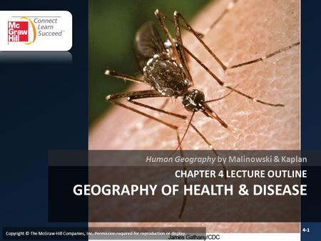 Chapter 4 LECTURE OUTLINE GEOGRAPHY of health & DISEASE