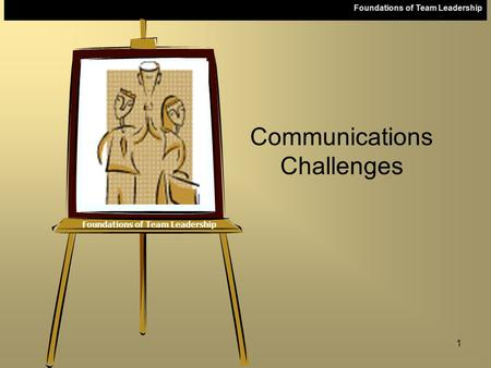 Foundations of Team Leadership 1 Communications Challenges.
