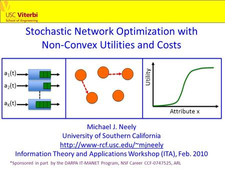 Stochastic Network Optimization with Non-Convex Utilities and Costs Michael J. Neely University of Southern California