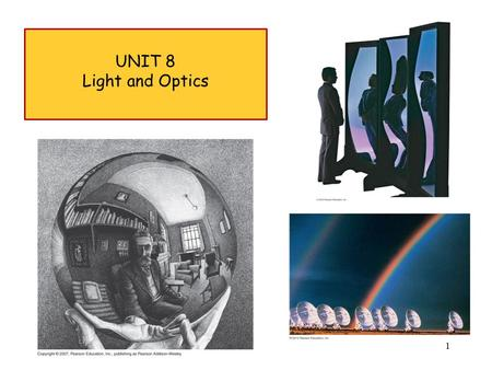 UNIT 8 Light and Optics.
