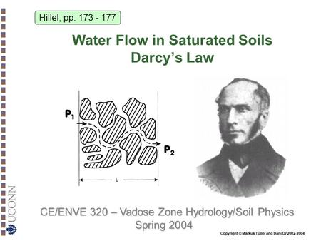 Water Flow in Saturated Soils Darcy's Law
