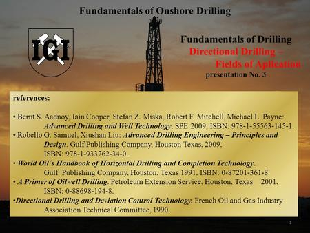 Fundamentals of Onshore Drilling