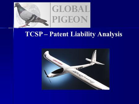 TCSP – Patent Liability Analysis. Project Overview Overall Objectives Create an Unmanned Aerial Vehicle (UAV) which is capable of the following: Create.
