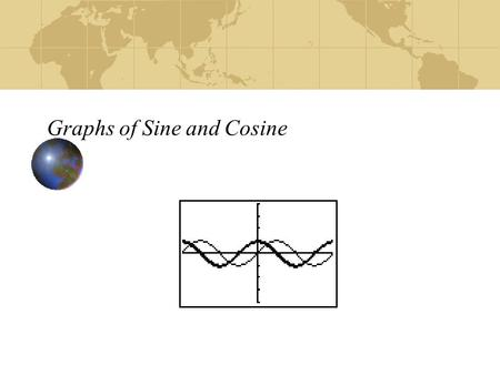 Graphs of Sine and Cosine. Graph y = sin  90º-90º 270º-270º 1 2 -2  sin  0°0° 45° 90° 135° 180° 225° 270° 315° 360° 0 0 0 1  0.707  -0.707 180º360º.