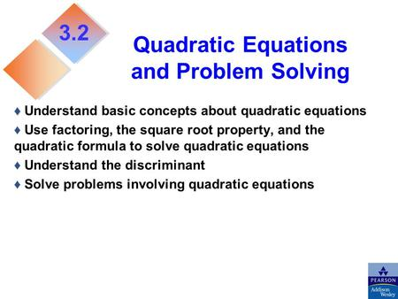 Quadratic Equations and Problem Solving