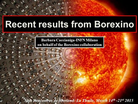 Recent results from Borexino