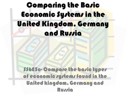 Comparing the Basic Economic Systems in the United Kingdom, Germany and Russia SS6E5c- Compare the basic types of economic systems found in the United.