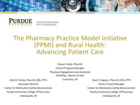 The Pharmacy Practice Model Initiative (PPMI) and Rural Health: