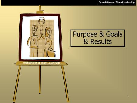 Foundations of Team Leadership 1 Purpose & Goals & Results.