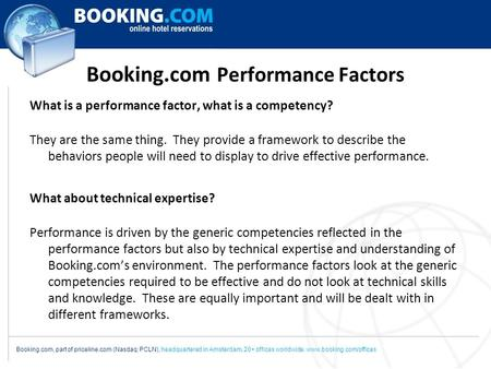 Booking.com Performance Factors