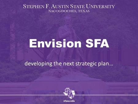 Envision SFA developing the next strategic plan….