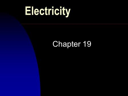 Electricity Chapter 19. Introduction n One of the oldest problem in physics n phenomena related to electric charge n deals with -interactions between.