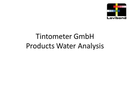 Tintometer GmbH Products Water Analysis