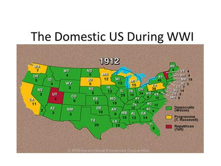 The Domestic US During WWI. Russian Revolution RED SCARE 1920s1950s.