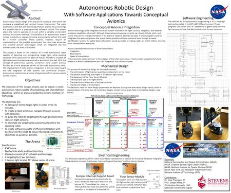 Objectives The objective of this design process was to create a small, autonomous robot capable of completing a set of predefined objectives within an.