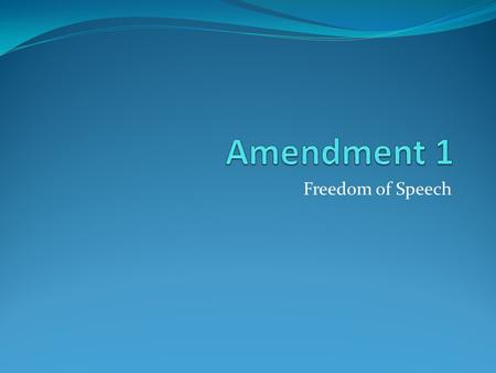 Freedom of Speech. Purpose for Freedom of Speech: To guarantee to each person a right of Free expression, in the Spoken and the Written word, and by all.