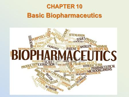 CHAPTER 10 Basic Biopharmaceutics. How Drugs Work drugs produce either desired or undesired effects on the body once in the blood, drugs are circulated.