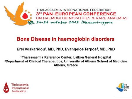 Bone Disease in haemoglobin disorders