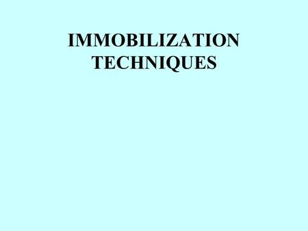 IMMOBILIZATION TECHNIQUES. Advantages in the use of immobilization technique Easy re-use of the biocatalyst Reduced requirement of the growth of cells: