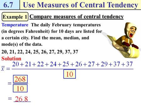 Measure of Central Tendency Calculator