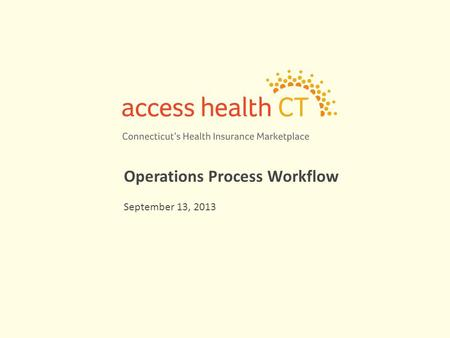 Operations Process Workflow September 13, 2013. 2 Streamlined Operations – No Wrong Door (MAGI Medicaid/CHIP/APTC/QHP) AHCT, DSS and other partners have.
