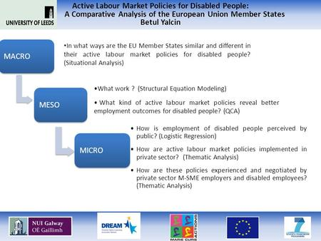 Active Labour Market Policies for Disabled People: