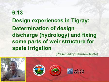 6.13 Design experiences in Tigray: