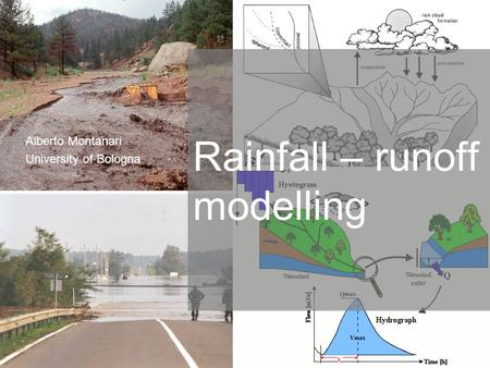 Rainfall – runoff modelling