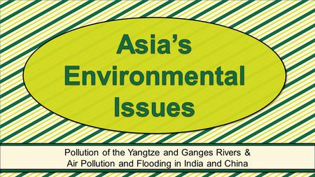 Asia's Environmental Issues