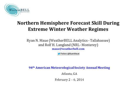 94th American Meteorological Society Annual Meeting