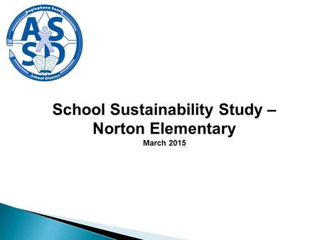 School Sustainability Study – Norton Elementary March 2015.