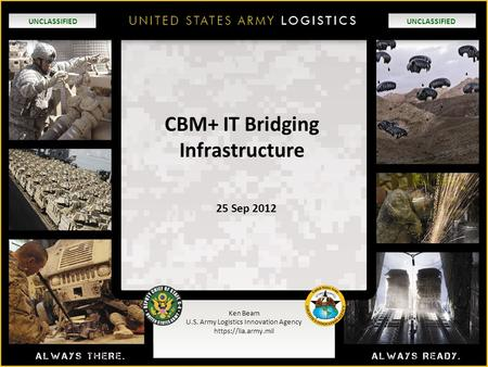 CBM+ IT Bridging Infrastructure