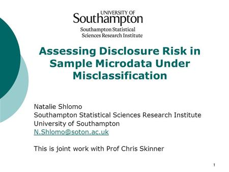 Assessing Disclosure Risk in Sample Microdata Under Misclassification
