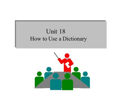 Unit 18 How to Use a Dictionary. 1.Types of dictionaries 1) Monolingual dictionaries vs.bilingual dictionaries Monolingual dictionaries are written in.