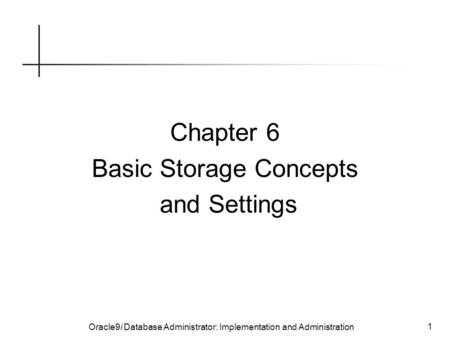 Basic Storage Concepts and Settings