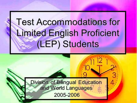 Nesa writing accommodations for esol