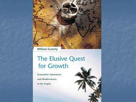 "Introduction Title very important: ""quest for growth"" like magical elixir Title very important: ""quest for growth"" like magical elixir Three sections:"