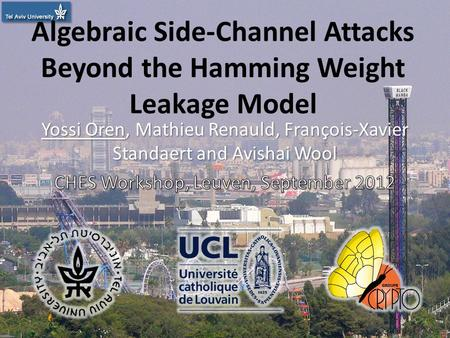 Algebraic Side-Channel Attacks Beyond the Hamming Weight Leakage Model 1.
