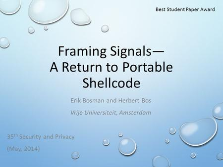 Framing Signals— A Return to Portable Shellcode