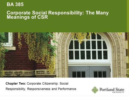 Corporate Social Responsibility: The Many Meanings of CSR