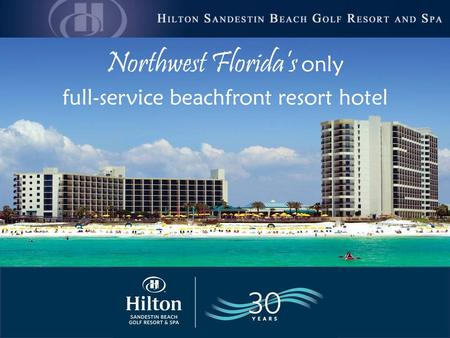 Northwest Florida's only full-service beachfront resort hotel.