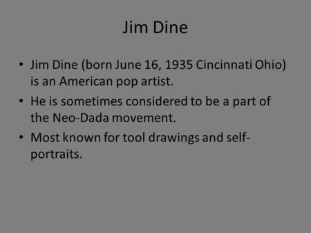 jim dines biography essay Home lord jim e-text: chapter 19 e-text lord jim chapter 19 'i have told you these two episodes at length to show his manner of dealing with himself under the new conditions of his life.