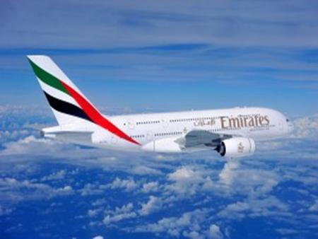 London Heathrow JFK New York Brisbane airport Singapore * Emirates only travels internationally and all their flights are scheduled.