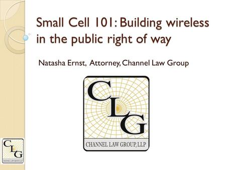 Small Cell 101: Building wireless in the public right of way