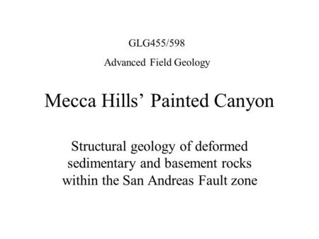 Mecca Hills' Painted Canyon