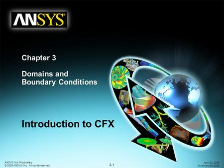 3-1 ANSYS, Inc. Proprietary © 2009 ANSYS, Inc. All rights reserved. April 28, 2009 Inventory #002598 Chapter 3 Domains and Boundary Conditions Introduction.