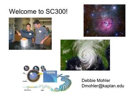 Welcome to SC300! Debbie Mohler