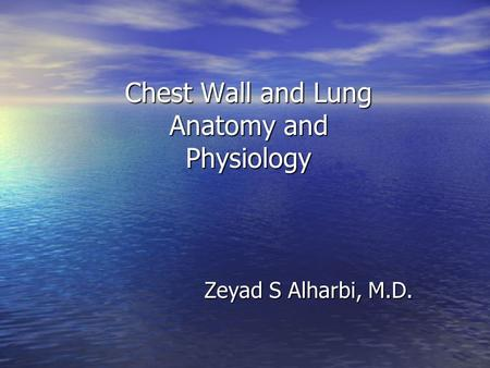 Chest Wall and Lung Anatomy and Physiology