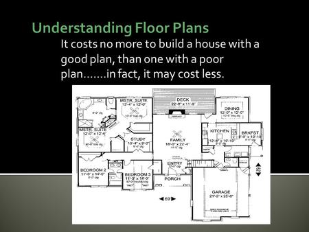 It costs no more to build a house with a good plan, than one with a poor plan…….in fact, it may cost less.