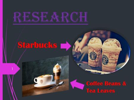 Research 1 Coffee Beans & Tea Leaves Starbucks. 5 reasons why Starbucks is Popular  Many would agree that Starbucks serves up a high- quality brew that.